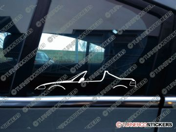 2x Car Silhouette sticker -  Honda Del-Sol crx (1992-1998) W/ open roof